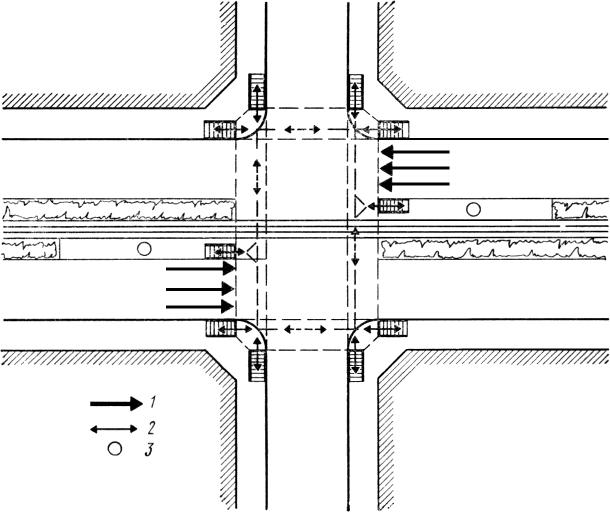 и пешеходного движений без
