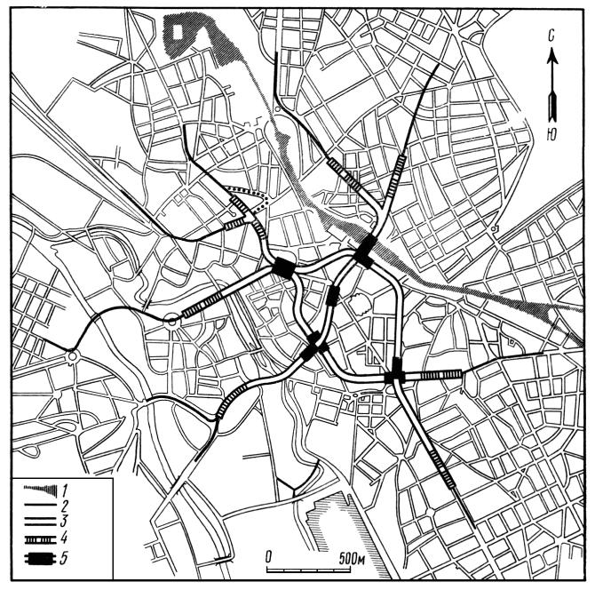 Схема линий подземного трамвая